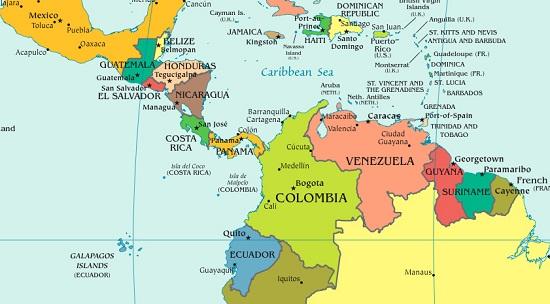 エクアドル地図